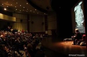 Anteprima del videofilm Mohammad Reza Lotfi Mirza Abdollah's Music School , Farhange saraye Arasbarana, Teheran febbraio 2016