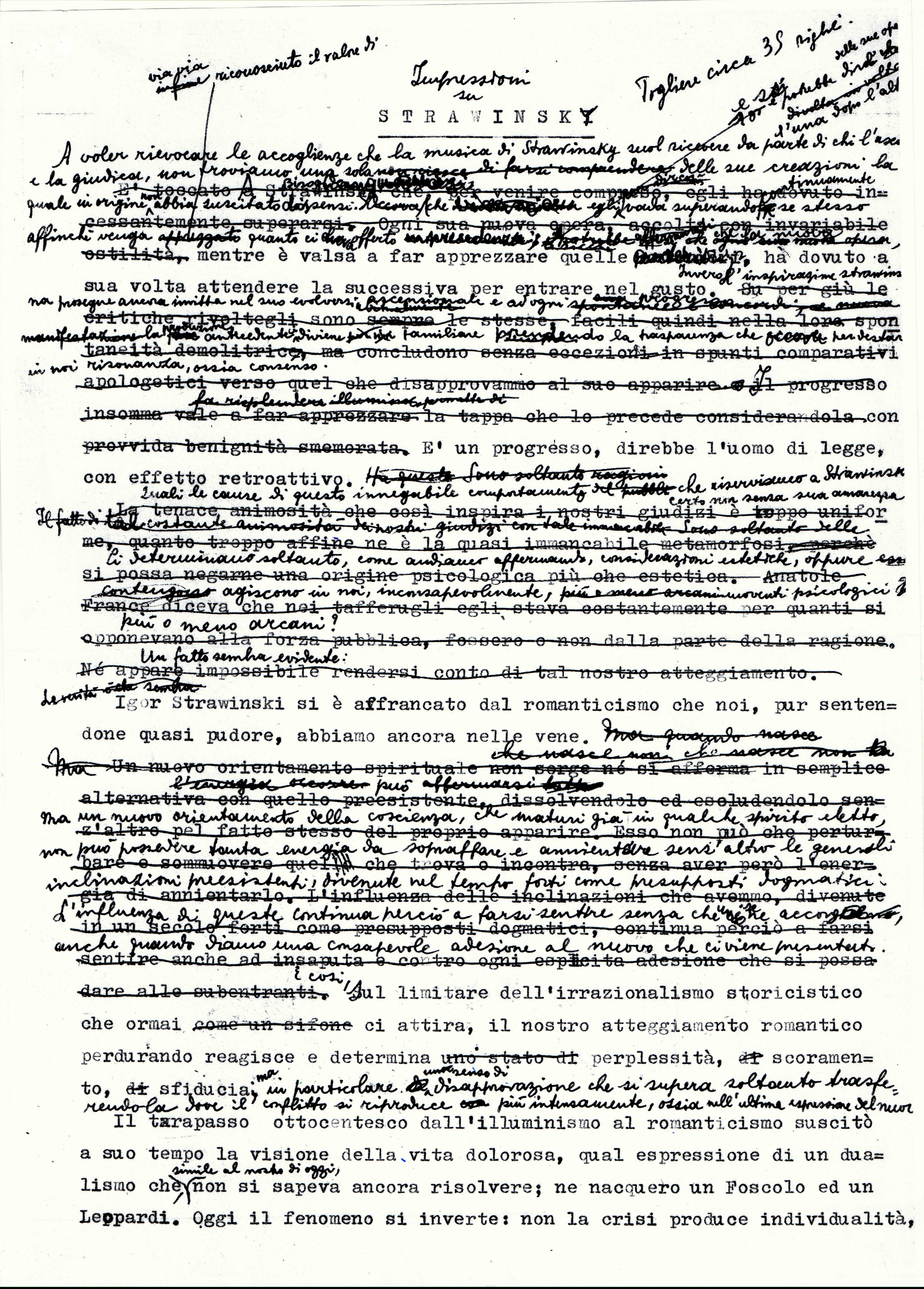 """Grafia di Antonio Pizzuto """"Impressioni su Strawiinsky 01"""""""