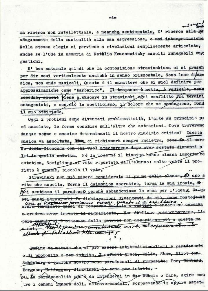"""Grafia di Antonio Pizzuto """"Impressioni su Strawiinsky 04"""""""