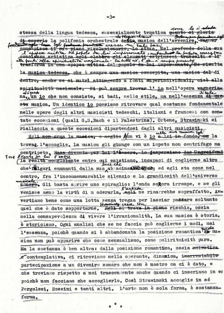 """Grafia di Antonio Pizzuto """"Impressioni su Strawiinsky 03"""""""