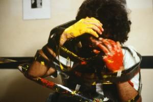 """© Nosrat Panahi Nejad """"Pellicola e il mio corpo 45, Cine studio Obraz , Milano, 1979"""""""