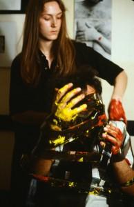 """© Nosrat Panahi Nejad """"Pellicola e il mio corpo 48, Cine studio Obraz , Milano, 1979"""""""